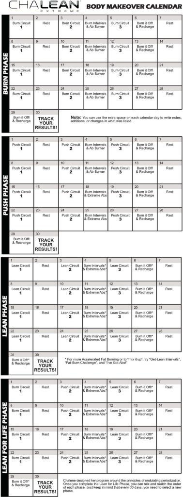 ... Posts Related To Chalean Extreme Workout Calendar Hip Hop Abs Workout