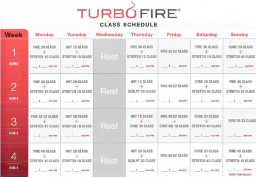 Dance the Pounds Away with the Turbo Fire Schedule | Jessica Bowser ...