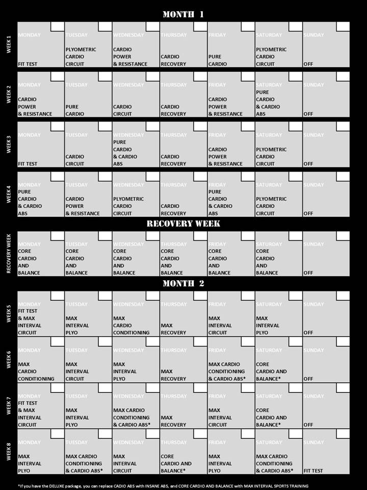 Insanity Workout Nutrition Guide Pdf
